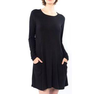 Betabrand Sweatshirt Travel Dress